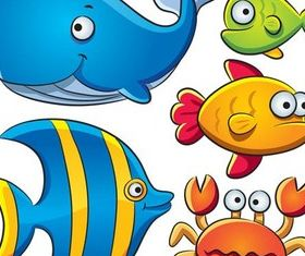Marine Animals free vector