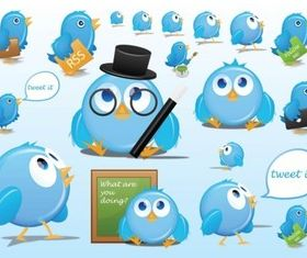 Twitter Cartoons vector