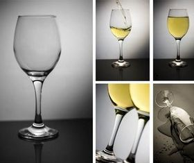 White Wine Collage set vector
