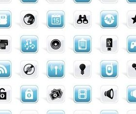 Shiny Icons graphic vector