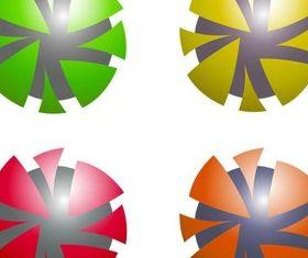 Shiny Abstract Logotypes art vector