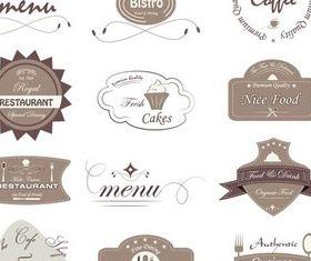 Cafe Labels vectors graphics