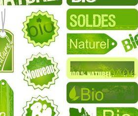 Creative Eco Stickers vector