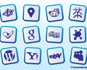Social Web Logo vector set
