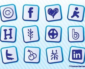 Social MediGraphics Pack vectors graphic