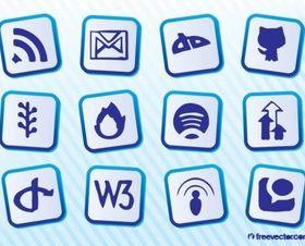 Social Website Vectors set