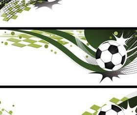 Football Banners design vectors