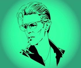 David Bowie Vector graphics