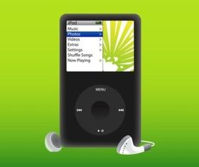 iPod Player vector graphics