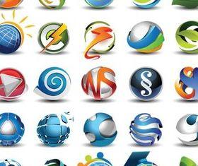 Spheres Logo free design vector