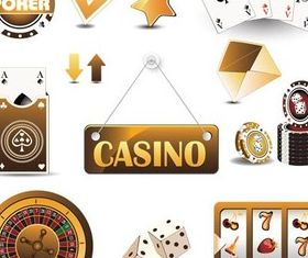 Casino Icons free vector