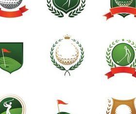 Stylish Golf Logo vectors graphics