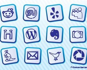 Social MediIcon Pack vector