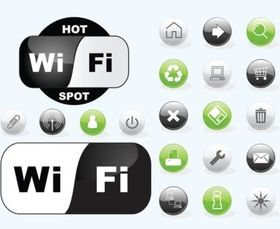 Wifi Icons vector design