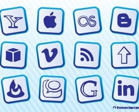 Popular Social MediIcons Illustration vector