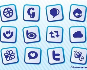 Download Social MediIcons design vector
