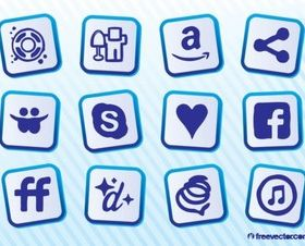 Social Sites vectors graphic