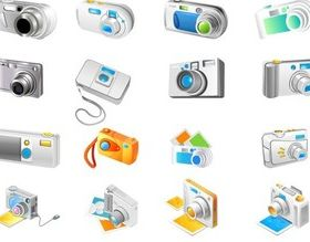 Figure Different camera vector graphics