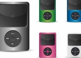 Figure iPod Icon vectors graphic