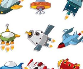 Space Aircraft free vector