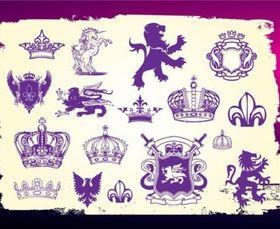 Medieval Heraldry Vectors graphics
