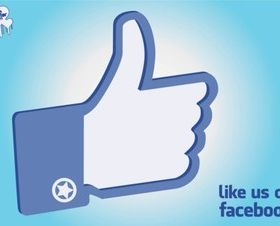 Facebook Like Hand set vector