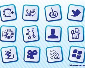 Free Social MediIcons vector
