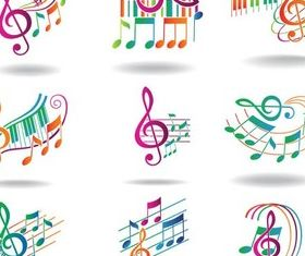 Music Symbols free design vectors
