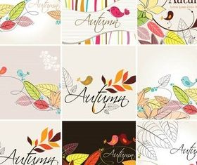 Autumn Backgrounds design vectors