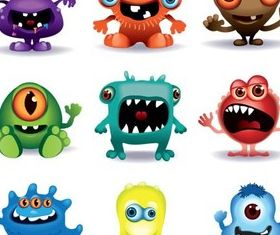 Different Funny Monsters vector