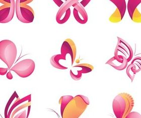 Butterflies Logo free vector graphics
