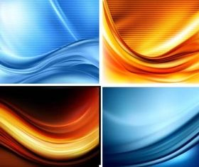 Backgrounds graphic set vector
