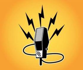 Retro Microphone vector