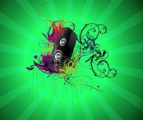 Music Speaker vector design