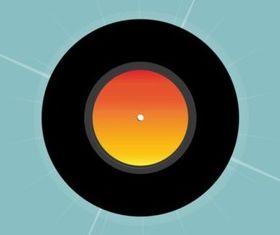 Vinyl Record vectors material