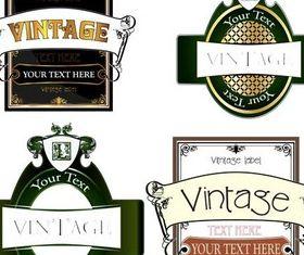 Green Labels shiny vector