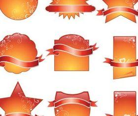 Glass Orange Labels vector