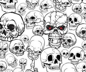 Different Skulls free vector