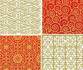 Chinese Style Backgrounds Vector set