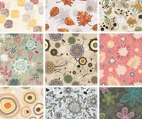Nature Style Patterns Vector vector