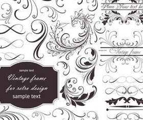 Floral Swirl Design Illustration vector