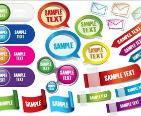 Colorful Web Labels vector