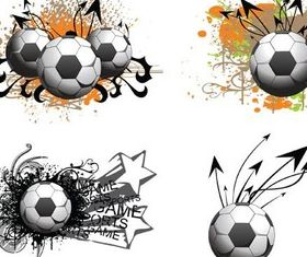 Football Grunge Elements Vector material