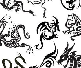 Creative Dragon free vector