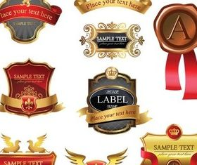 Royal Labels vectors graphics