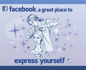 Facebook Expression shiny vector
