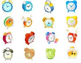 Small alarm clock vectors