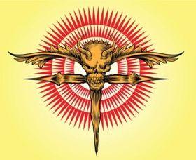 Skull Cross Vector Artwork vectors graphic