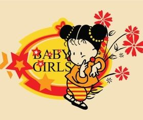 Baby Girl Vector vector graphic
