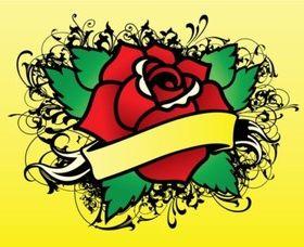 Rose Tattoo Vector Illustration